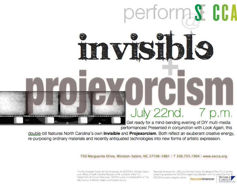 Projexorcism and Invisible at SECCA July 22, 2010